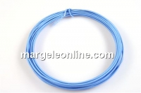 Sarma decor acoperita cu matase, albastru, 0.9 mm