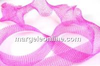 Organza metalica, tub circular, roz intens