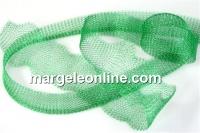 Organza metalica, tub circular, verde pur