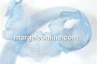 Organza metalica, tub circular, albastru