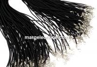 Snur pret-a-porter silicon, negru, 3mm - x3