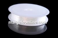 Guta elastica, alb transparent, 1.0mm