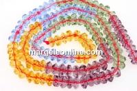 Cristal, diamant, mix multicolor, 6mm - 120x