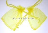 Saculet organza, galben, 9x7cm - x20