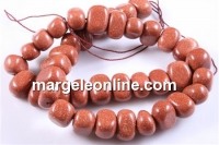 Brown gold stone, candy, 15mm