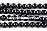 Onix, black, round, 16mm