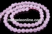 Pink quartz, round, 6mm