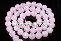 Pink quartz, round, 8mm