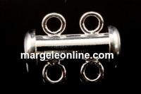 Incuietoare 2 siraguri, argint 925, 15x11.5mm - x1