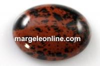 Cabochon obsidian mahogany, oval, 20x15mm