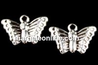 Charm, placat cu argint, fluturas, 13x9mm - x10