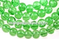 Margele sticla crackle, verde lime, 6.5mm - x140