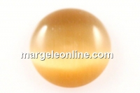 Cabochon ochi de pisica, rotund, topaz auriu, 14.2mm