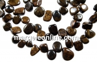 Bronzite, free form nugget, 12-14mm