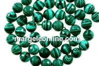 Green syntethic malachite, faceted round, 8mm