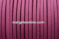 Snur faux suede, mov, 3mm - x5m