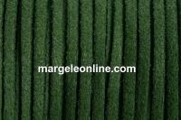 Snur faux suede, verde padure, 3mm - x5m