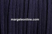 Snur faux suede, bleumarin intens, 3mm - x5m