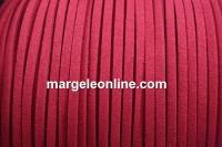 Snur faux suede, roz fucsia, 3mm - x5m