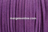 Snur faux suede, mov lavanda, 3mm - x5m