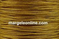 Snur matase pentru bratari, oliv auriu, 0.8mm - x5m
