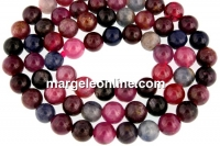 Multicolor saphire, natural, round, 6mm