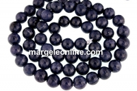 Sapphire, natural stone, blue, round, 6mm