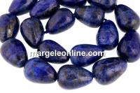 Lapis lazuli natural, drop, 18.5x13mm