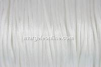Snur satin, alb, 1.5mm - 5m
