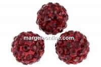 Margele shamballa, siam, 12mm - x2