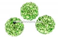 Margele shamballa, fern green, 6.5mm - x2