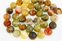 Natural yellow opal, round, 10mm