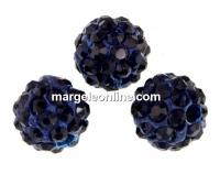 Margele shamballa, dark indigo, 8mm - x2