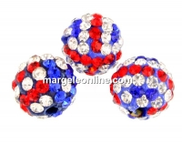 Margele shamballa, multicolor, 10mm - x2