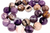 Chevron amethyst, faceted round, 14.5mm