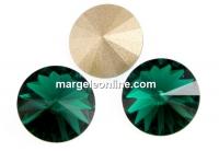 Swarovski, rivoli, emerald, 6mm - x2