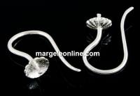 Tortite cercei argint 925 pentru perle cu o gaura, 19.5mm - x1per