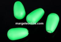 Perle Swarovski picatura, neon green, 11.5x6mm - x2