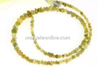 Diamond, natural rough stone, lime green, chips, 1.8-4mm