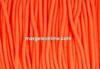 Snur elastic circular, portocaliu neon, 1.4mm - x 13m