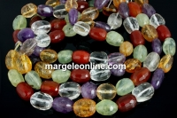Multistone, faceted free form tube, 12-14mm