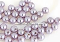 Perle Swarovski cu un orificiu, lavender, 4mm - x4
