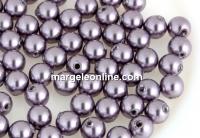 Perle Swarovski cu un orificiu, mauve, 4mm - x4