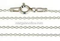 Lant zale ovale, argint 925 placat cu rodiu, 45cm - x1