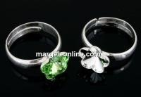 Baza inel reglabil argint 925, rivoli floare 10mm - x1
