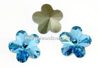 Swarovski, fancy floare, aquamarine, 6mm - x2