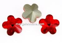 Swarovski, fancy floare, light siam, 6mm - x2