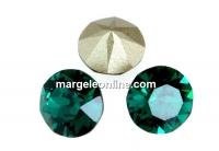 Swarovski, chaton SS, emerald, 8mm - x2