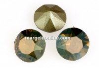 Swarovski, chaton SS, bronze shade, 8mm - x2