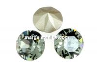 Swarovski, chaton SS39, black diamond, 8mm - x2